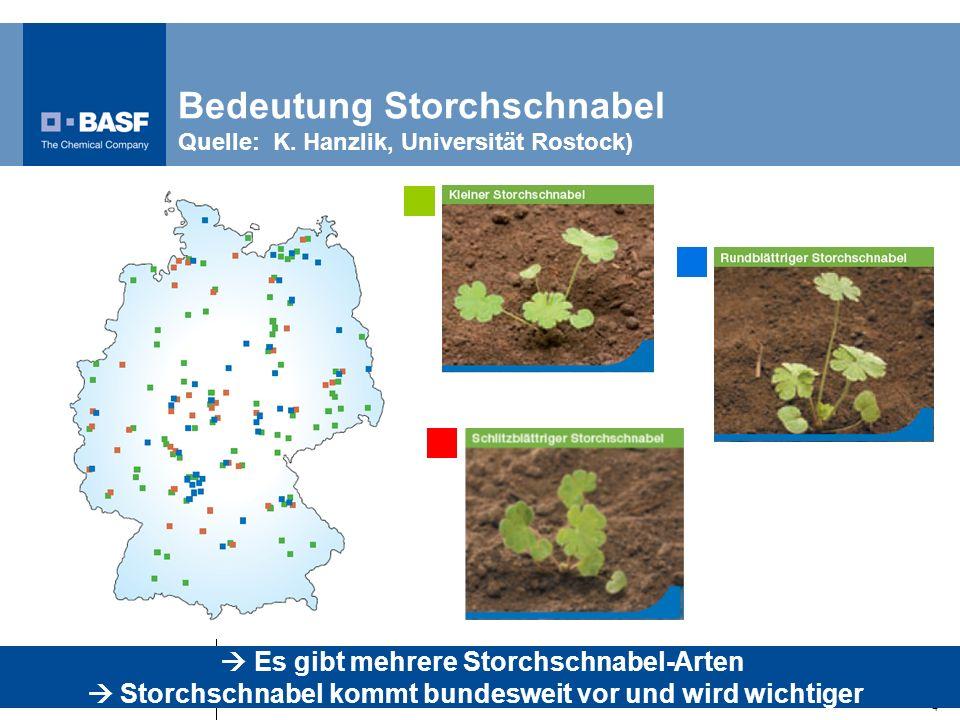 Bedeutung Storchschnabel Quelle: K. Hanzlik, Universität Rostock)