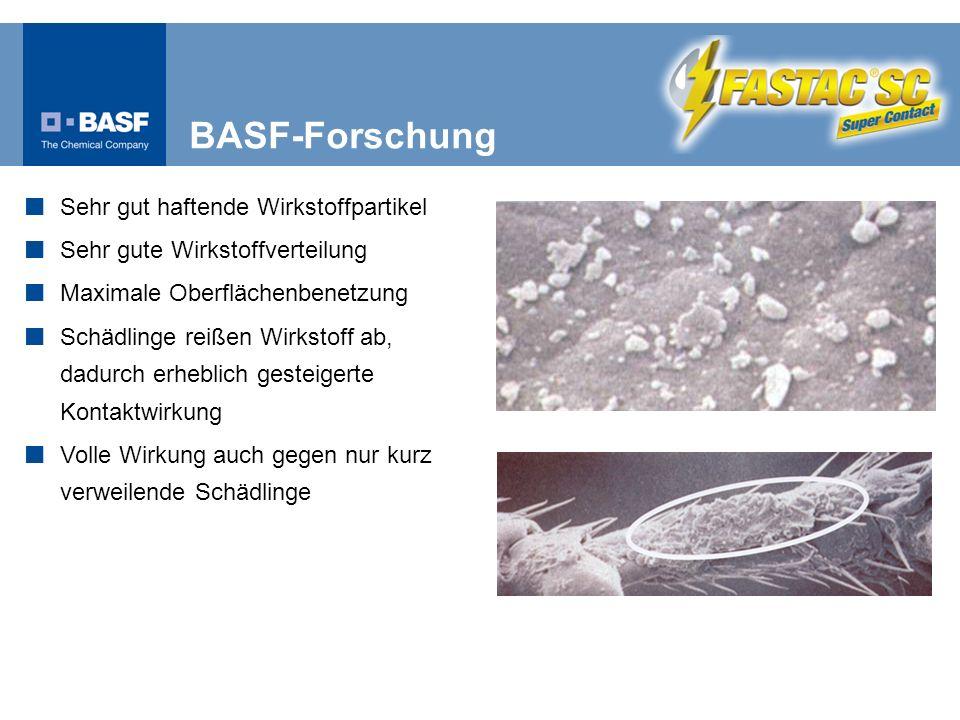 BASF-Forschung Sehr gut haftende Wirkstoffpartikel