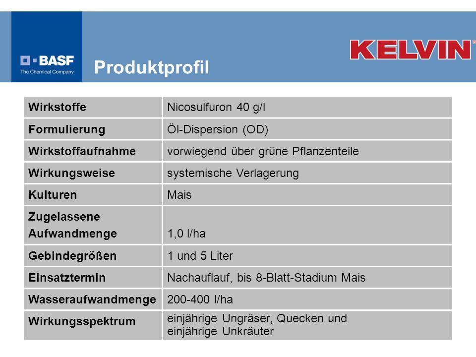Produktprofil Wirkstoffe Nicosulfuron 40 g/l Formulierung