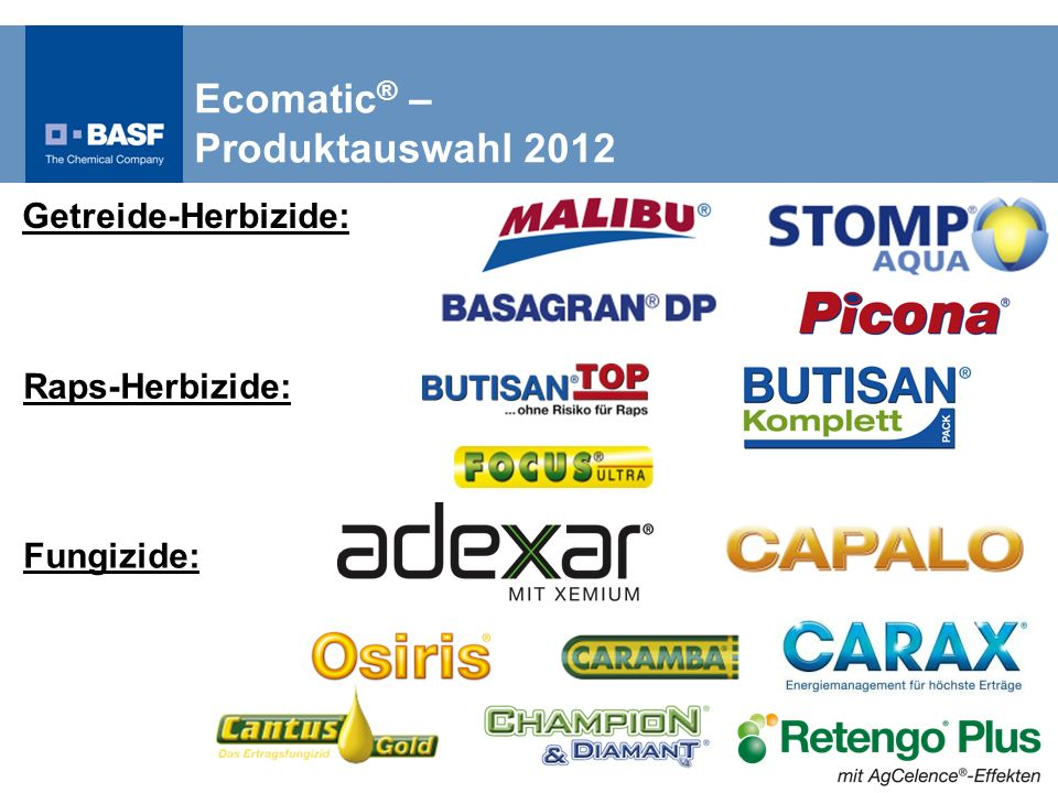 Ecomatic® – Produktauswahl 2012