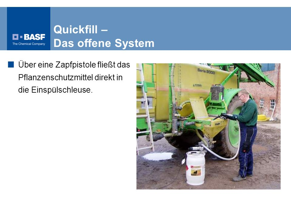 Quickfill – Das offene System