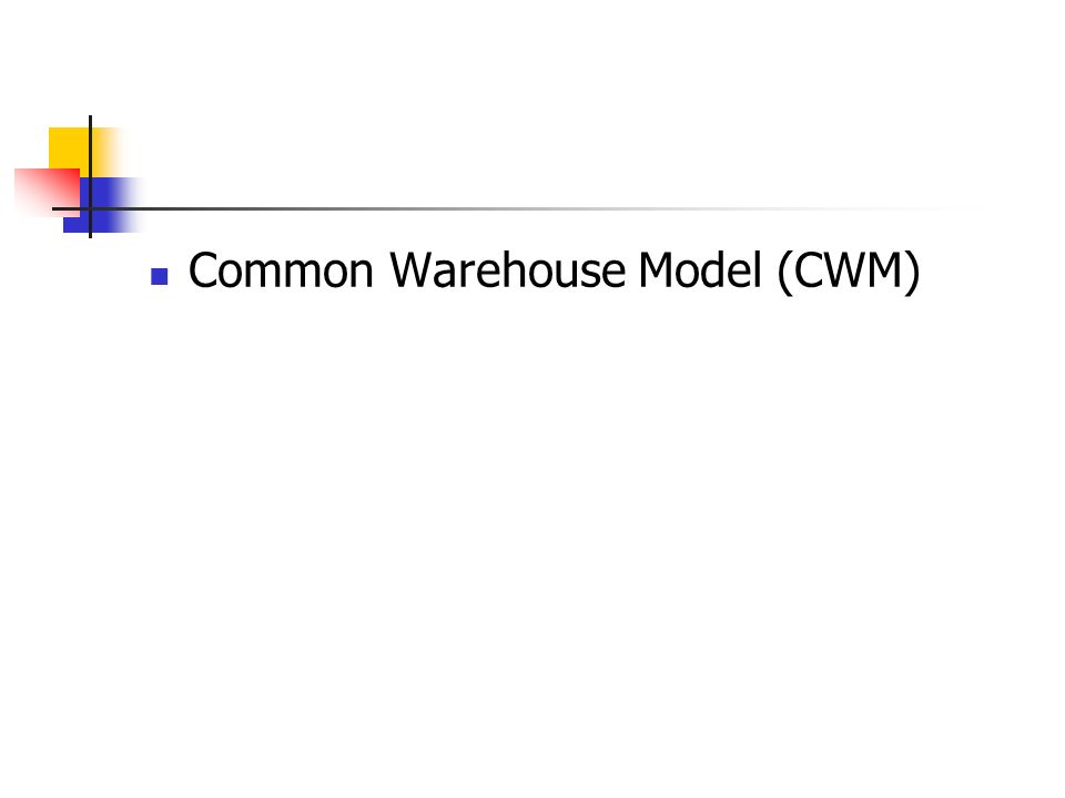 Common Warehouse Model (CWM)