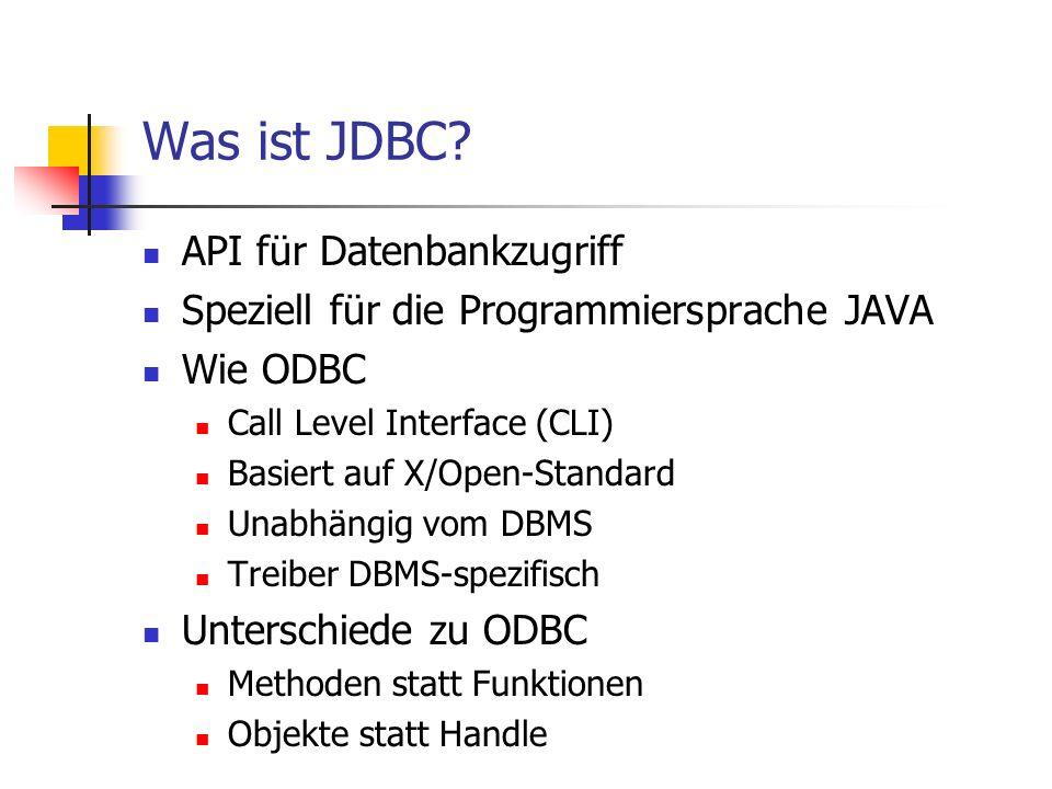 Was ist JDBC API für Datenbankzugriff