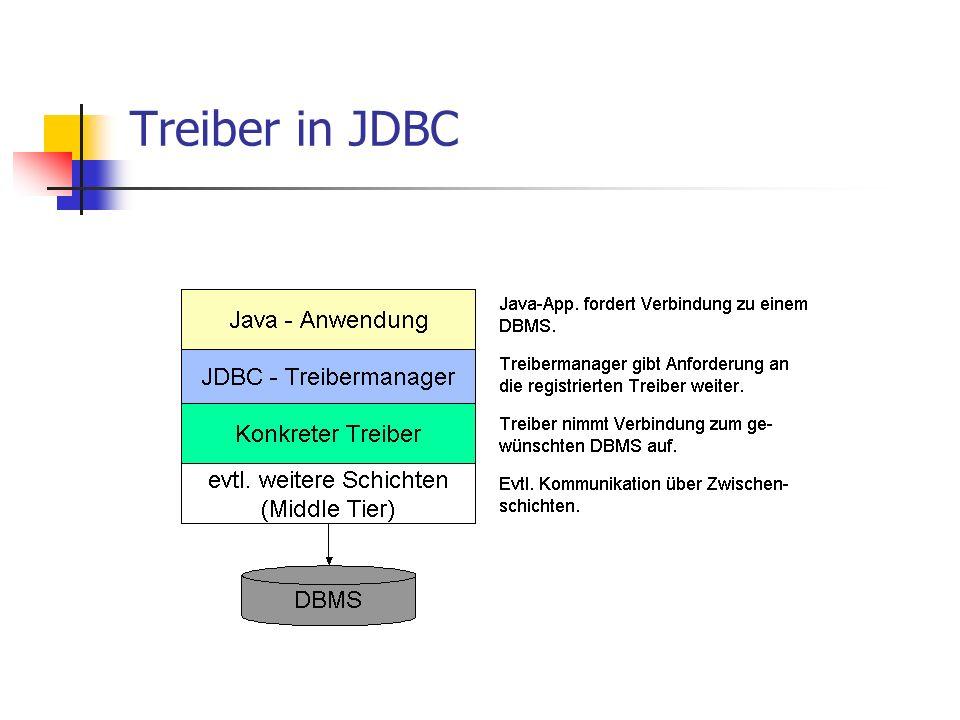 Treiber in JDBC