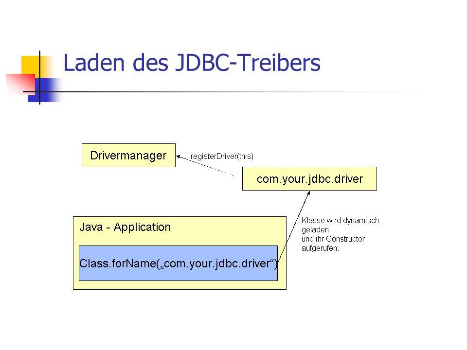 Laden des JDBC-Treibers