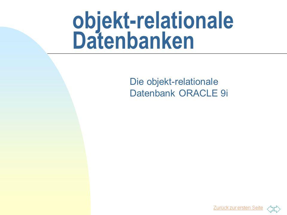 objekt-relationale Datenbanken
