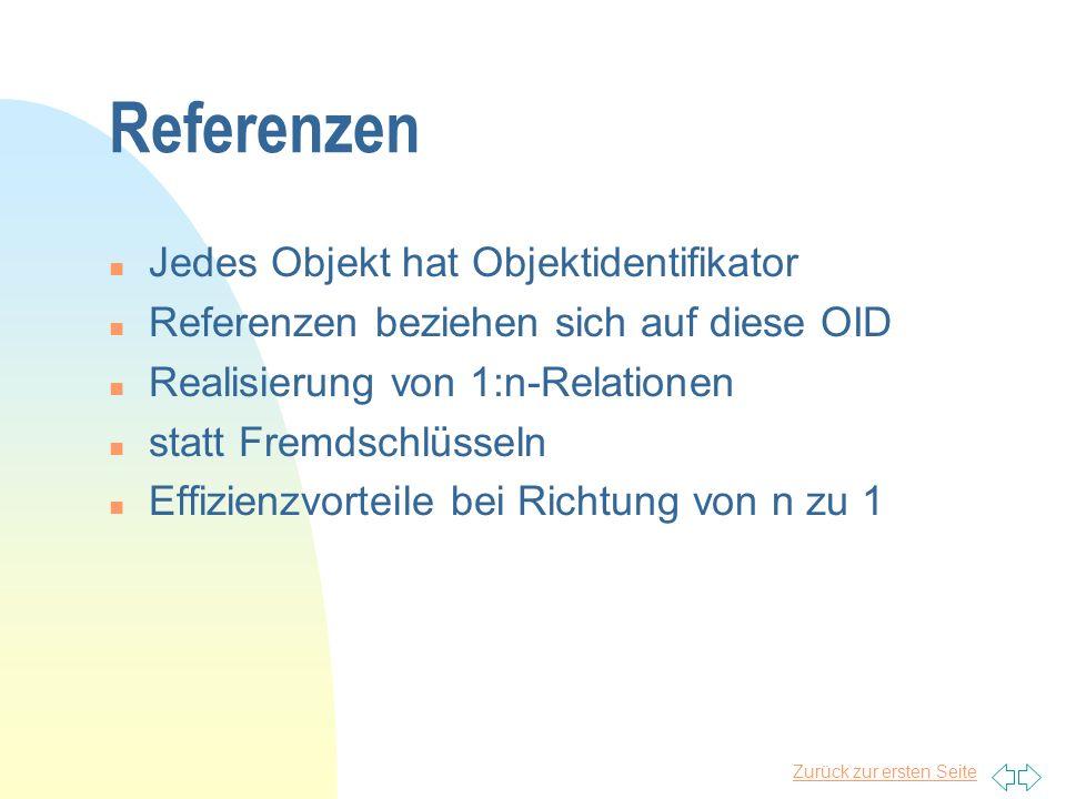 Referenzen Jedes Objekt hat Objektidentifikator