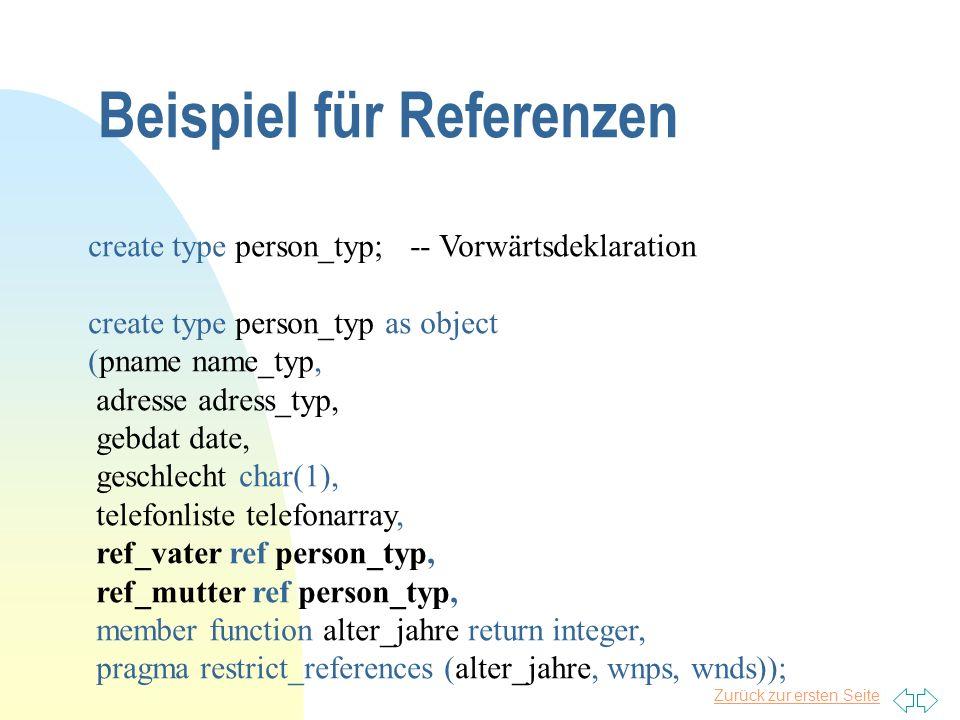 Beispiel für Referenzen