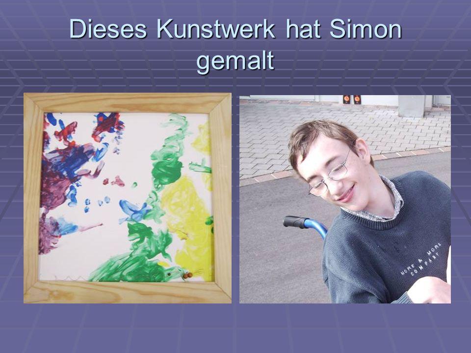 Dieses Kunstwerk hat Simon gemalt