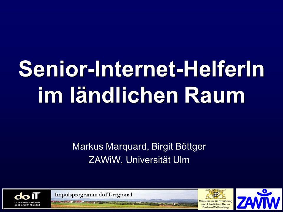 Senior-Internet-HelferIn im ländlichen Raum