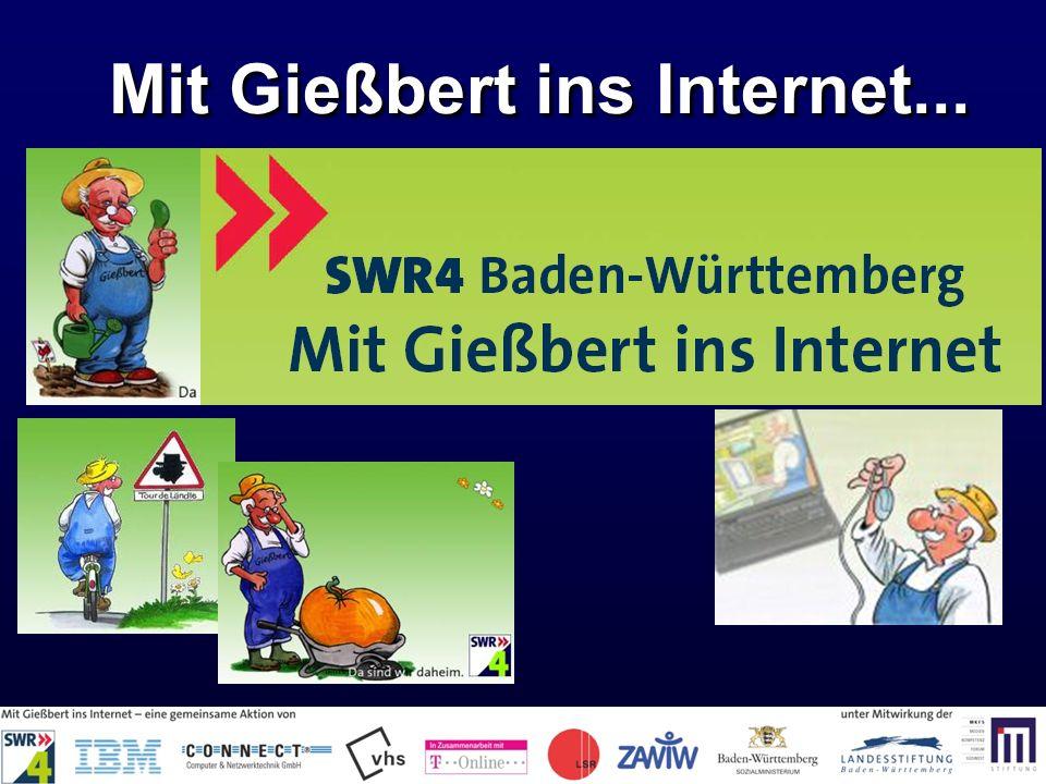 Mit Gießbert ins Internet...