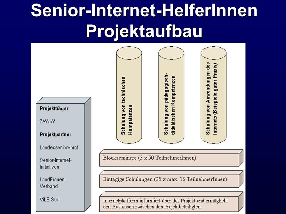 Senior-Internet-HelferInnen Projektaufbau