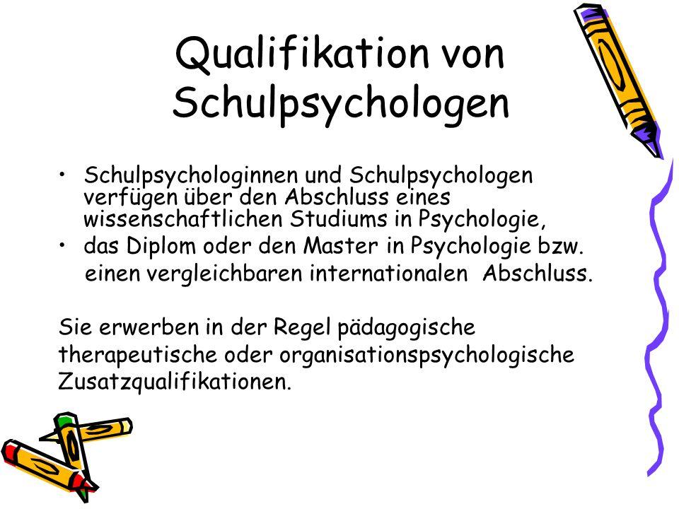 Qualifikation von Schulpsychologen