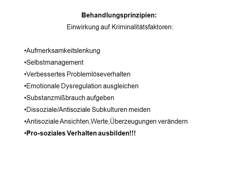 Behandlungsprinzipien: