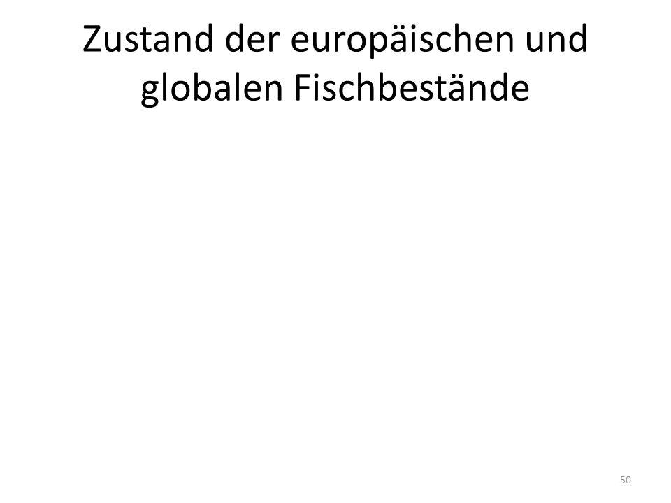 Zustand der europäischen und globalen Fischbestände