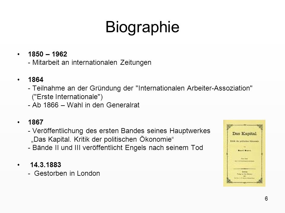 Biographie 1850 – 1962 - Mitarbeit an internationalen Zeitungen 1864
