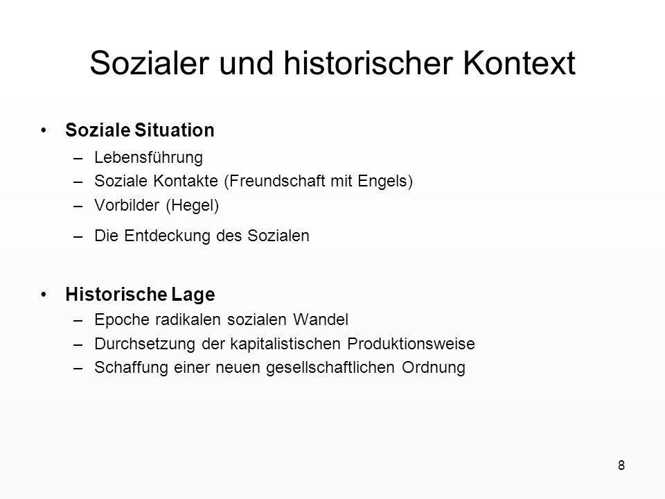 Sozialer und historischer Kontext