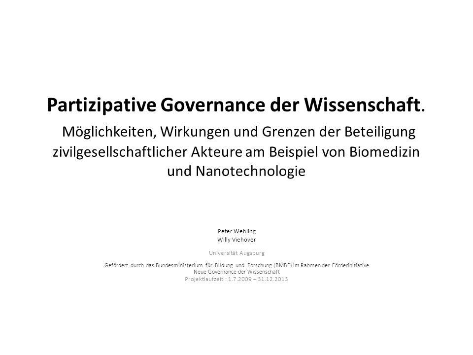 Neue Governance der Wissenschaft