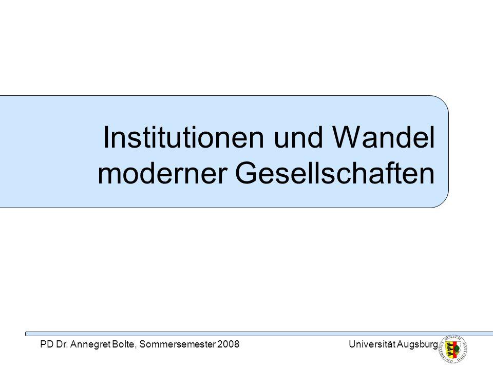 Institutionen und Wandel moderner Gesellschaften