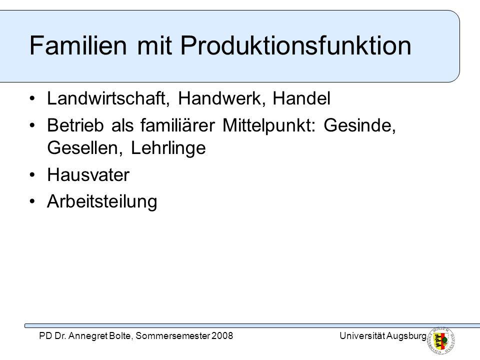 Familien mit Produktionsfunktion