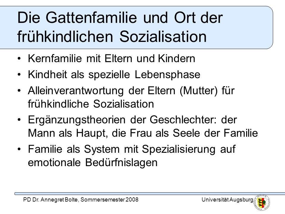 Die Gattenfamilie und Ort der frühkindlichen Sozialisation