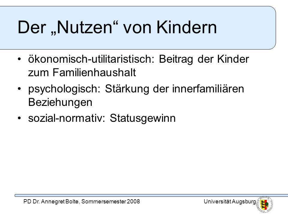 """Der """"Nutzen von Kindern"""