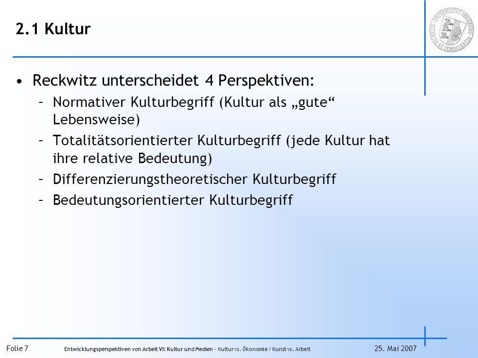 Reckwitz unterscheidet 4 Perspektiven:
