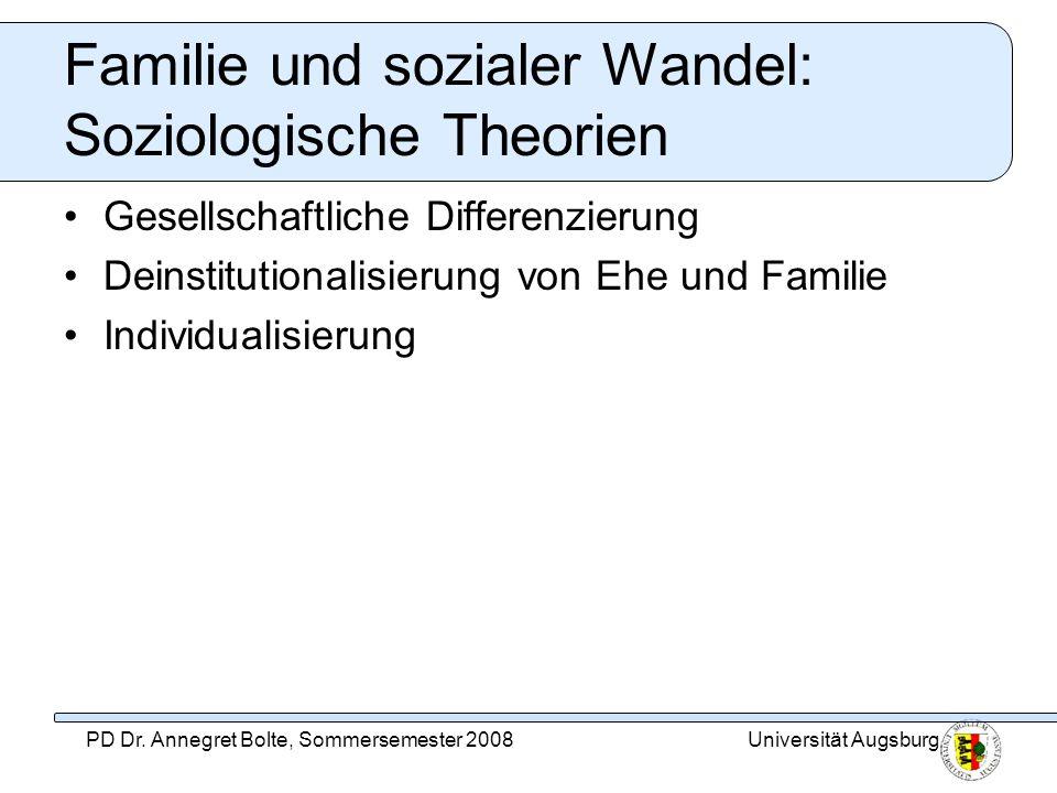 Familie und sozialer Wandel: Soziologische Theorien