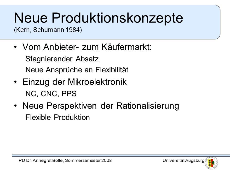 Neue Produktionskonzepte (Kern, Schumann 1984)