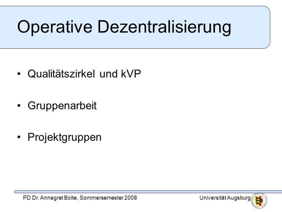 Operative Dezentralisierung