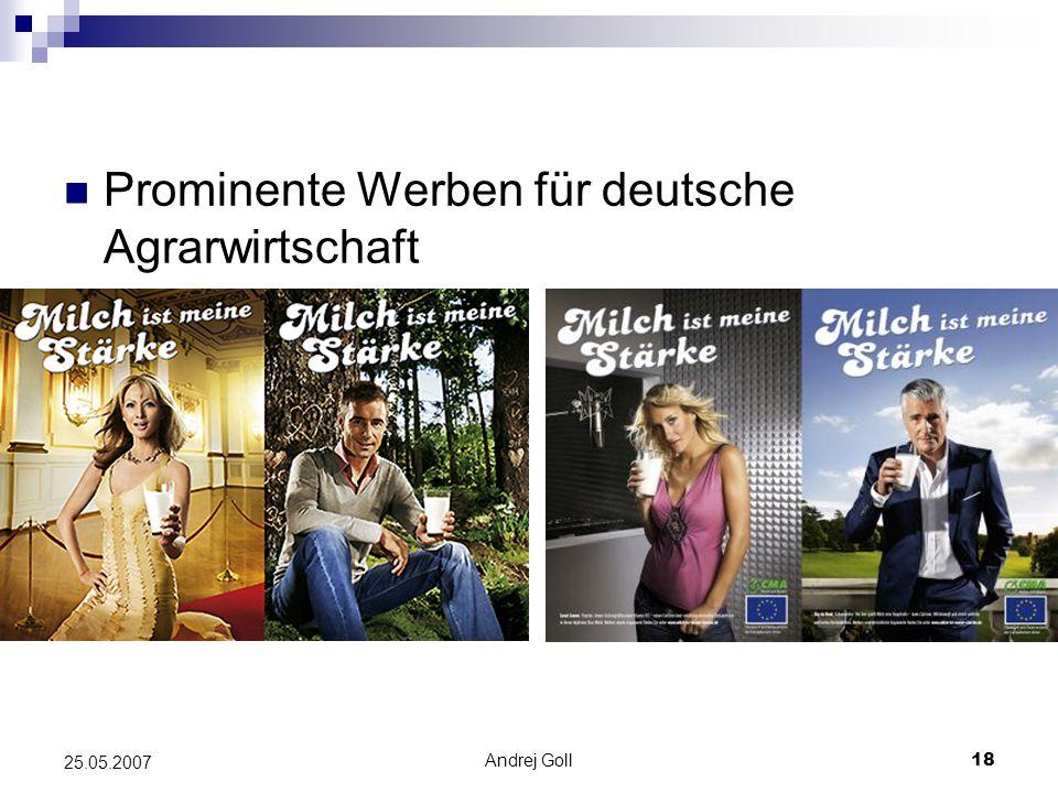 Prominente Werben für deutsche Agrarwirtschaft