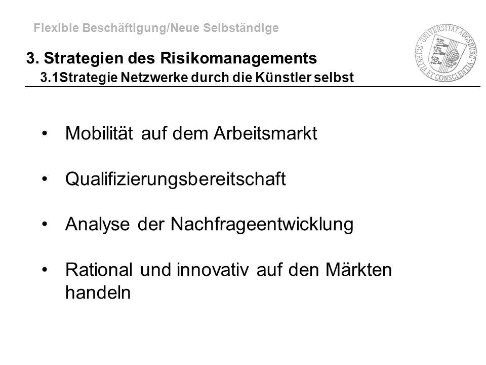 Mobilität auf dem Arbeitsmarkt Qualifizierungsbereitschaft