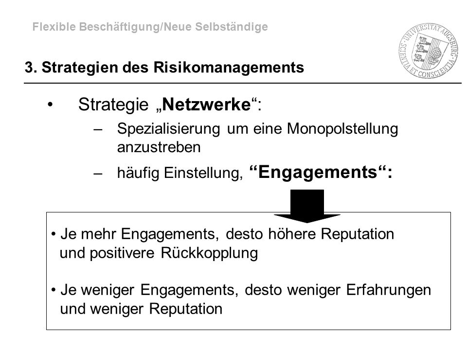 3. Strategien des Risikomanagements