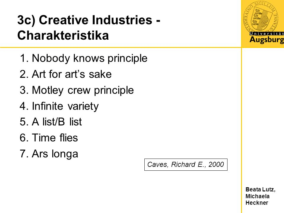 3c) Creative Industries - Charakteristika