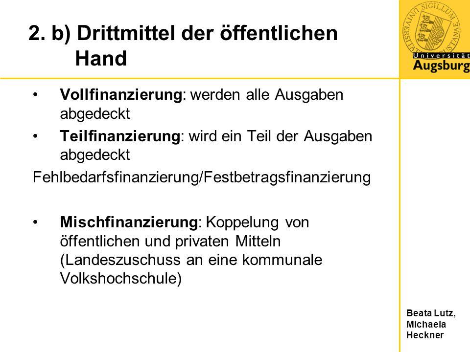 2. b) Drittmittel der öffentlichen Hand