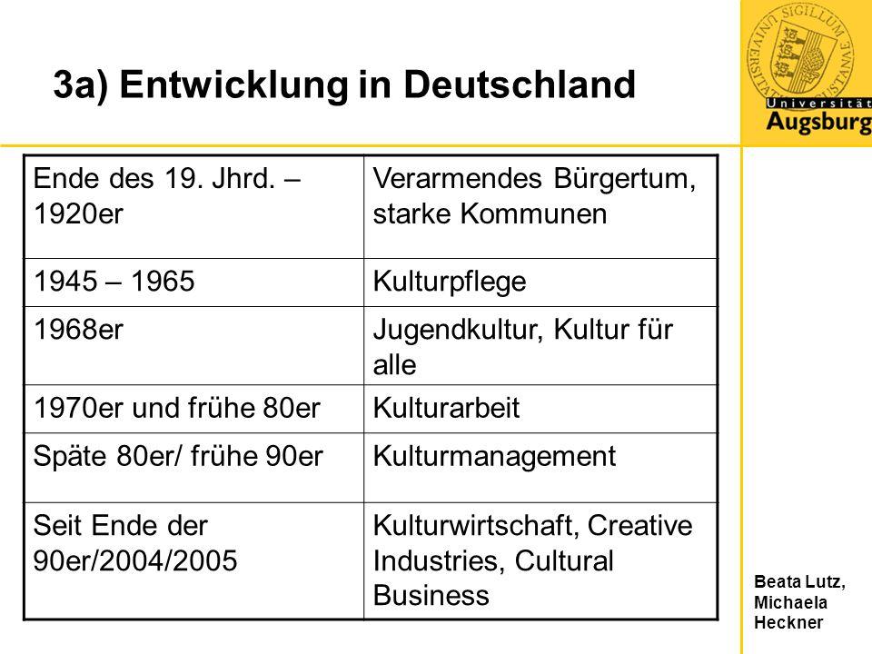3a) Entwicklung in Deutschland