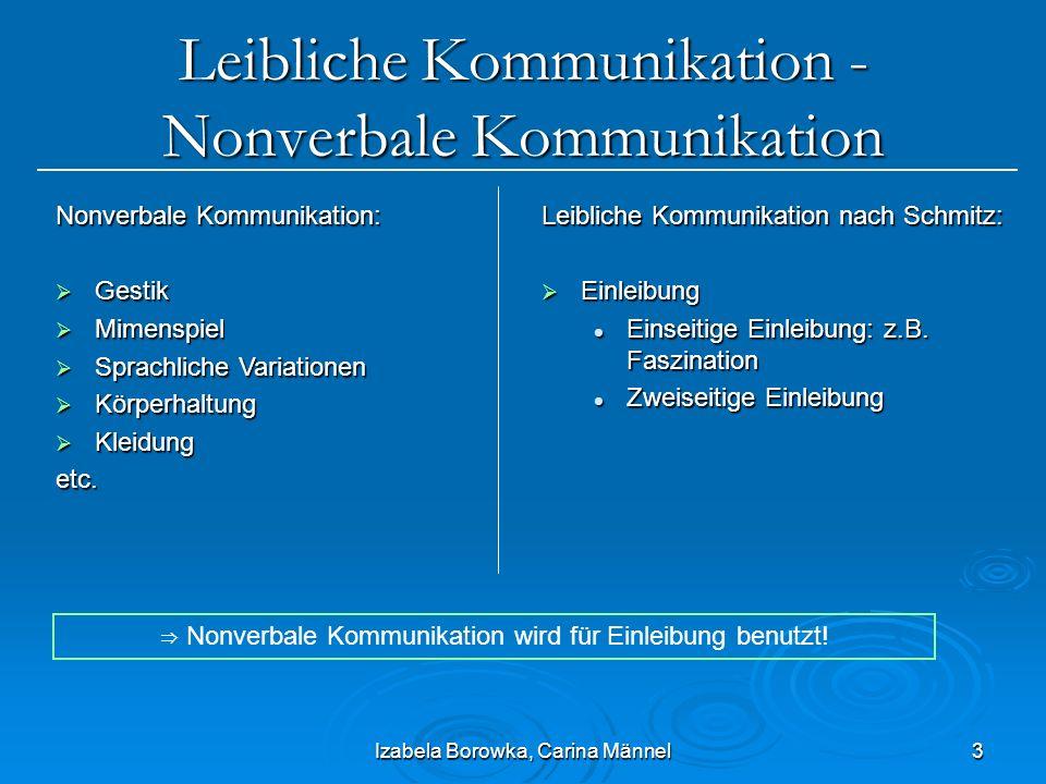 Leibliche Kommunikation - Nonverbale Kommunikation