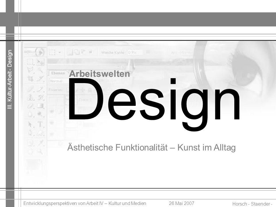 Design Arbeitswelten Ästhetische Funktionalität – Kunst im Alltag