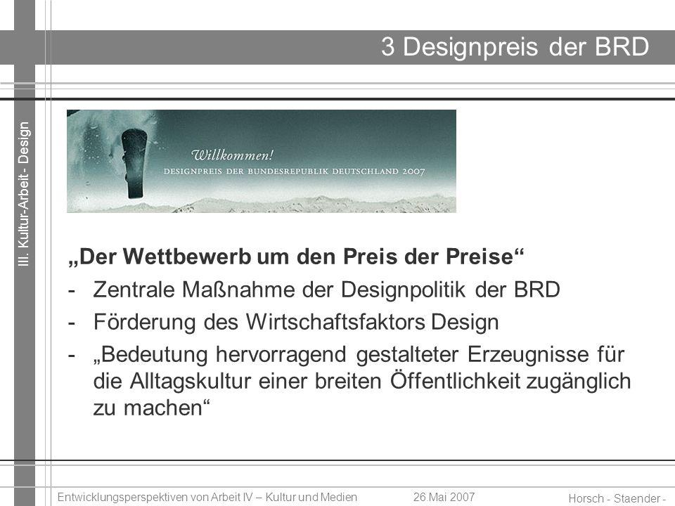 """3 Designpreis der BRD """"Der Wettbewerb um den Preis der Preise"""