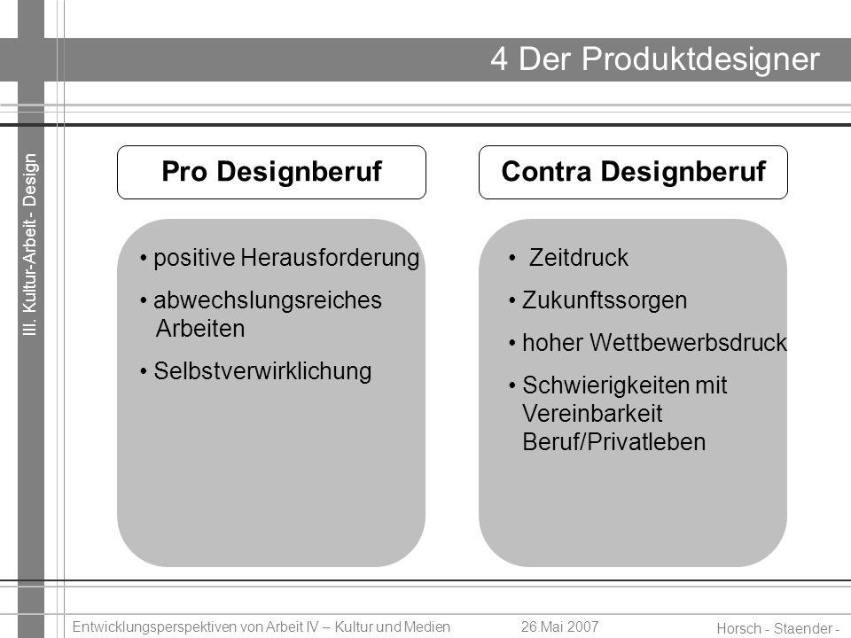 4 Der Produktdesigner Pro Designberuf Contra Designberuf