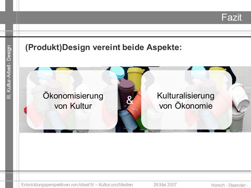 & Fazit (Produkt)Design vereint beide Aspekte: