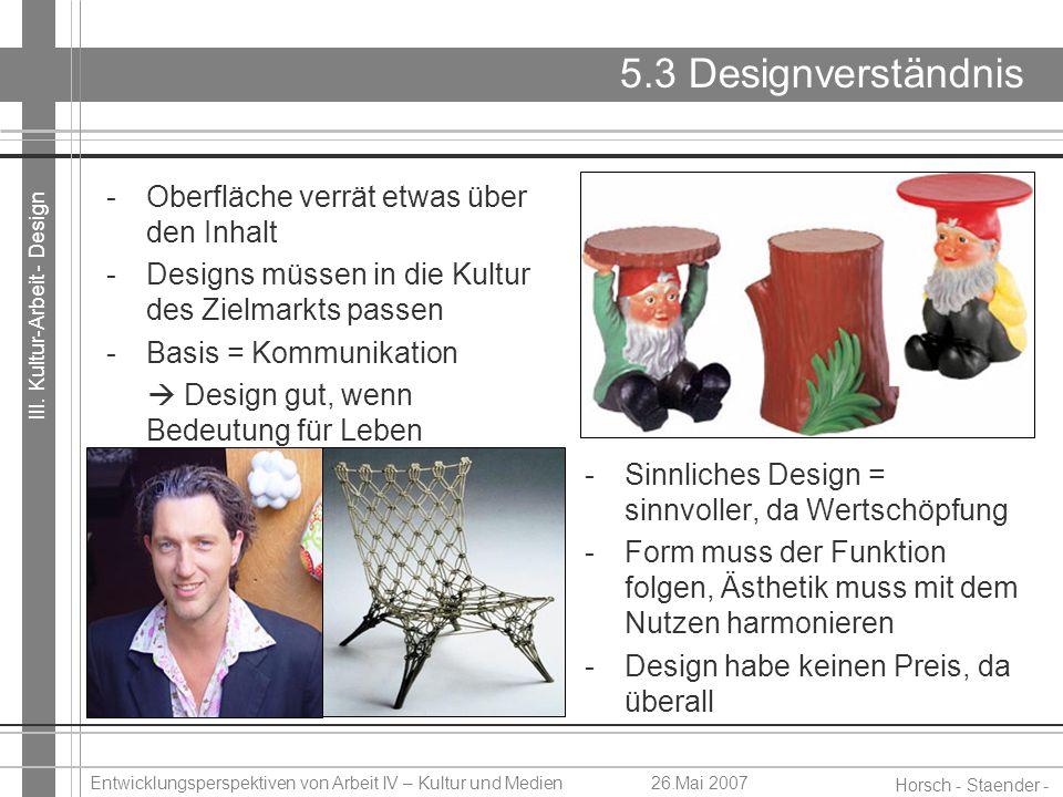 5.3 Designverständnis Oberfläche verrät etwas über den Inhalt