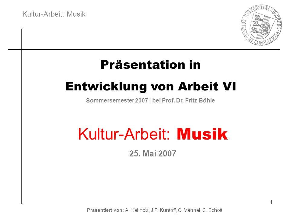 Sommersemester 2007 | bei Prof. Dr. Fritz Böhle