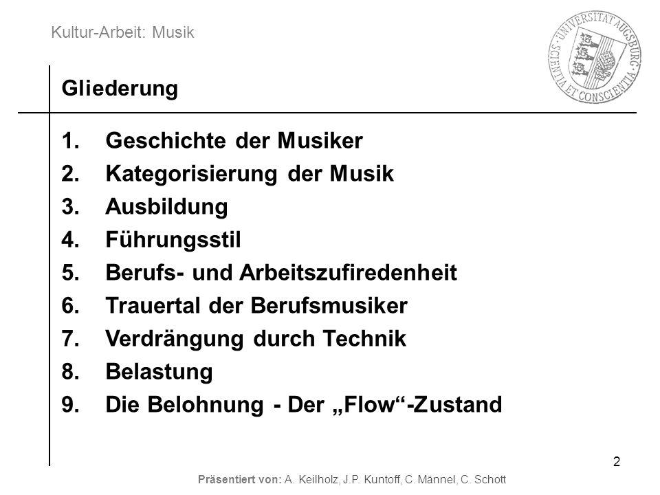 Geschichte der Musiker Kategorisierung der Musik Ausbildung