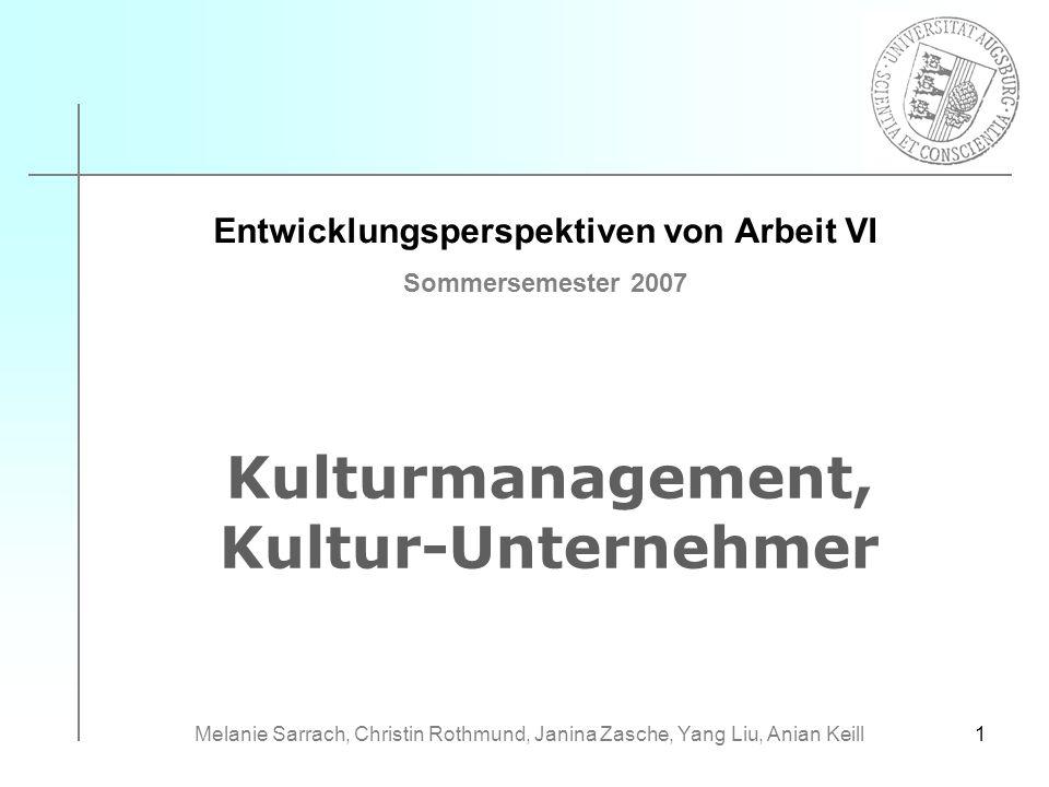 Kulturmanagement, Kultur-Unternehmer