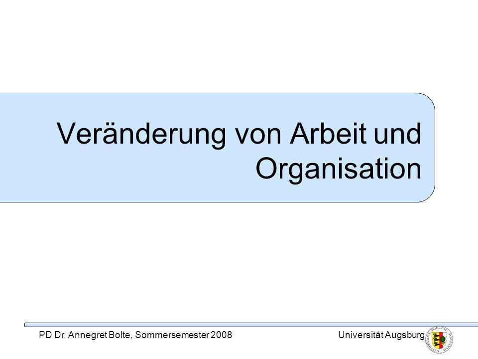Veränderung von Arbeit und Organisation
