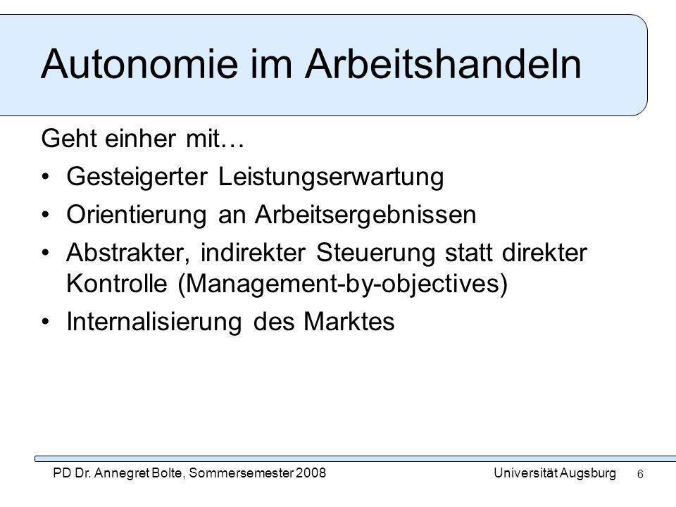 Autonomie im Arbeitshandeln