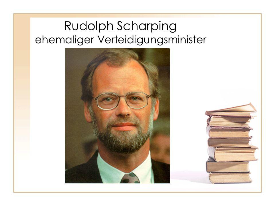 Rudolph Scharping ehemaliger Verteidigungsminister