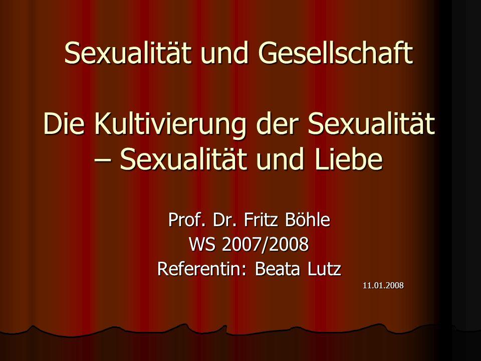 Prof. Dr. Fritz Böhle WS 2007/2008 Referentin: Beata Lutz 11.01.2008