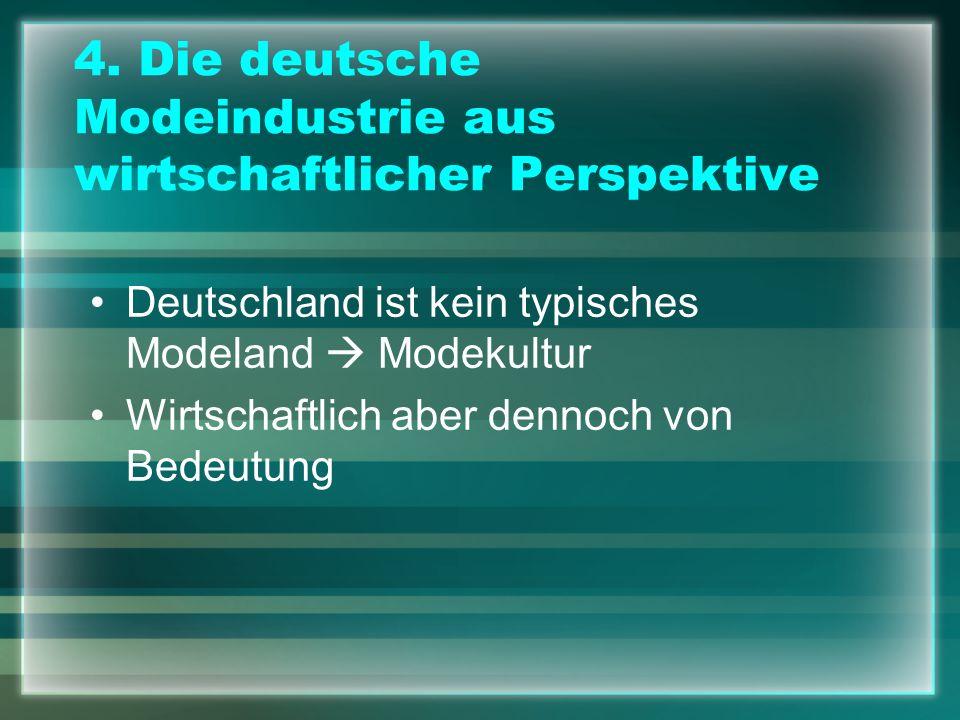 4. Die deutsche Modeindustrie aus wirtschaftlicher Perspektive